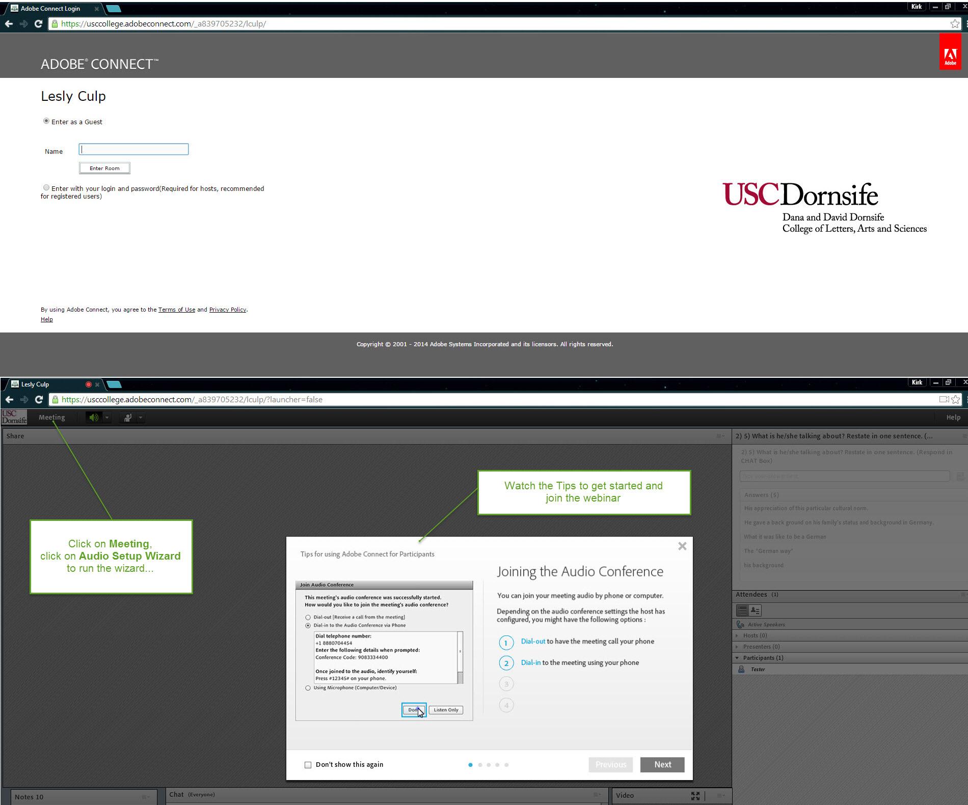 Webinar Tips